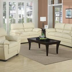 Fenmore Casual Split Back Leather Like 3 Pc Sofa Set Item