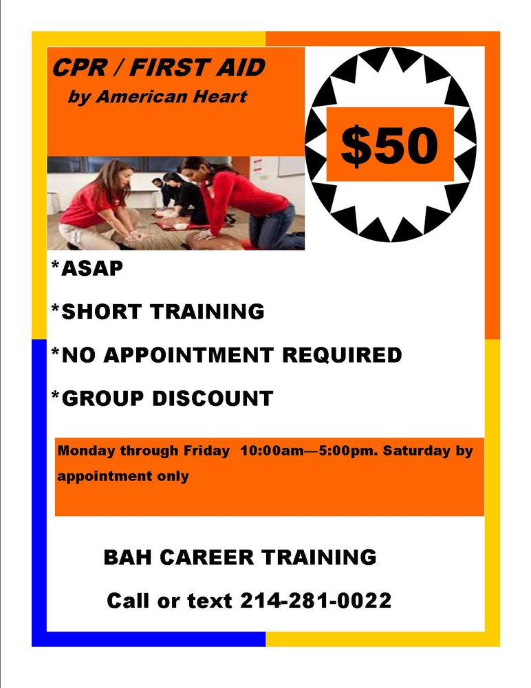 Bah Career Training Educational Services 2433 Goldfinch Ln