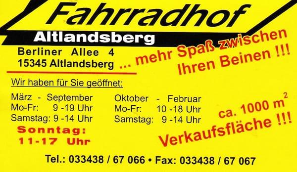 Fahrradhof Altlandsberg Fahrrad Berliner Allee 4 Altlandsberg