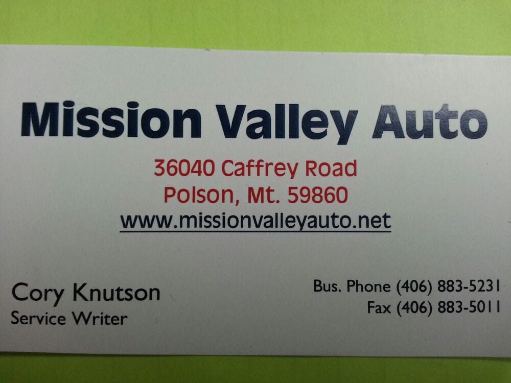 Mission Valley Auto: 36040 Caffrey Rd, Polson, MT