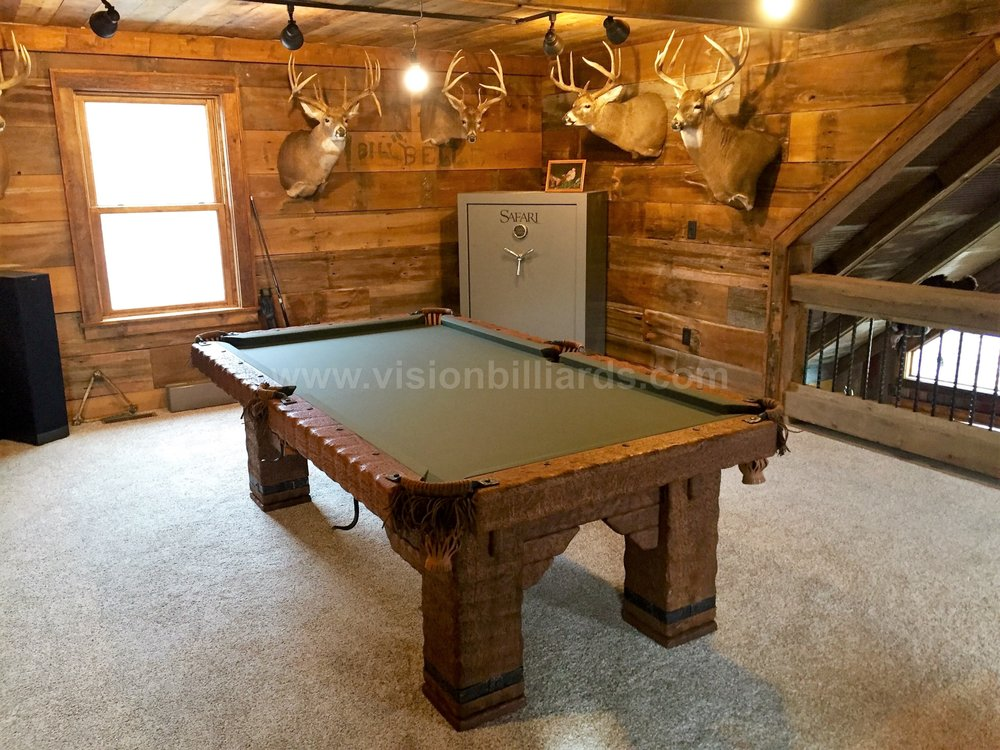 Rustic Log Billiard Pool Table Handmade Wild West Table Yelp - Handmade pool table