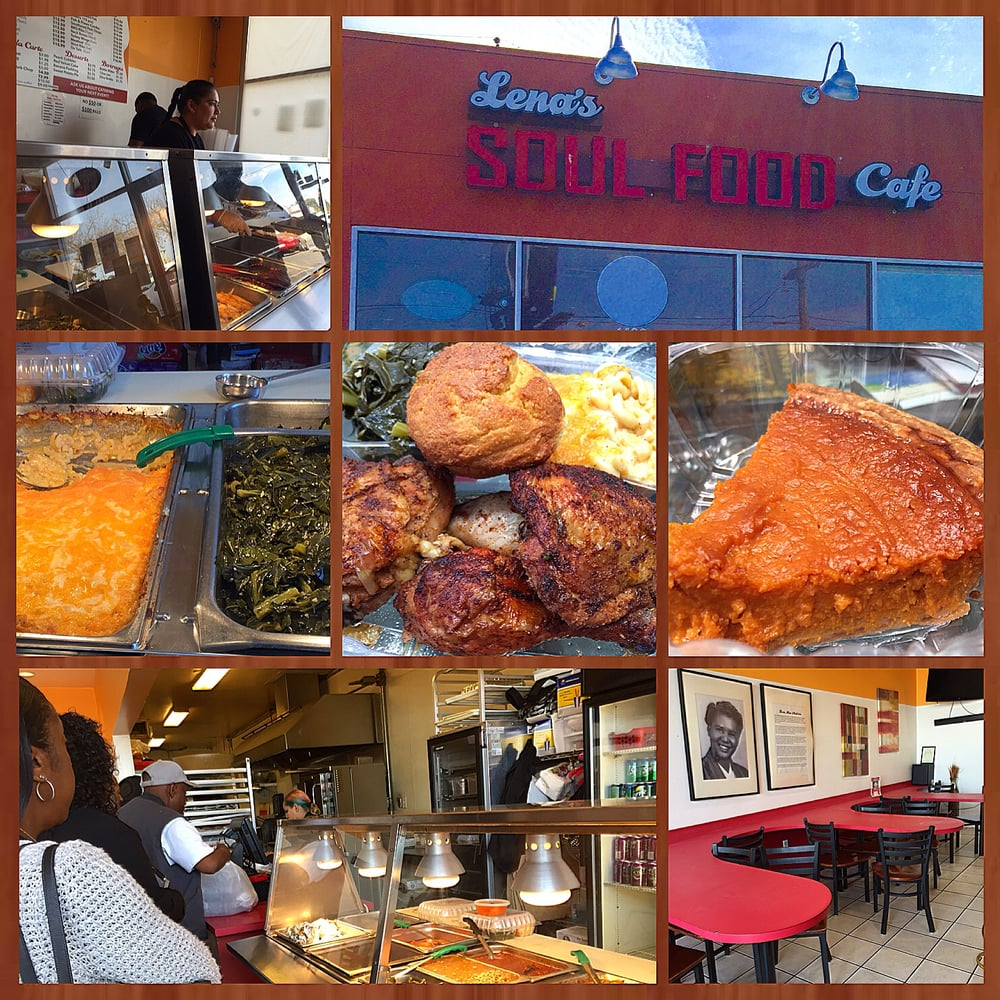 Montage Of Images From Lenas Soul Food Cafe Yelp