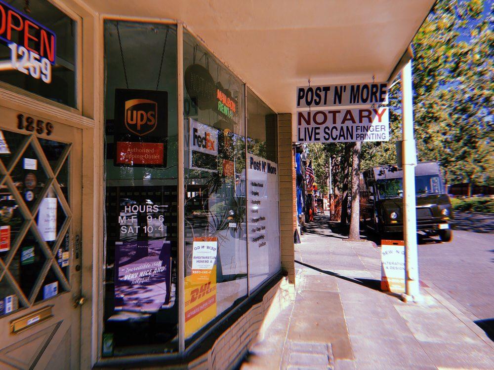 Post 'N More: 1259 El Camino Real, Menlo Park, CA