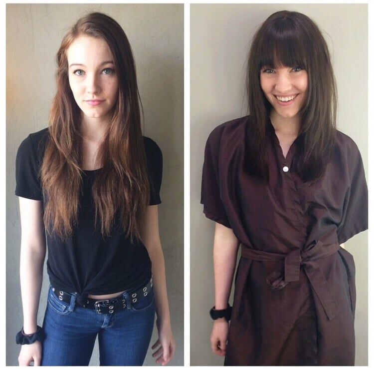 Before After Cutting 5 Inches Off Adding Fringe Face Framing And