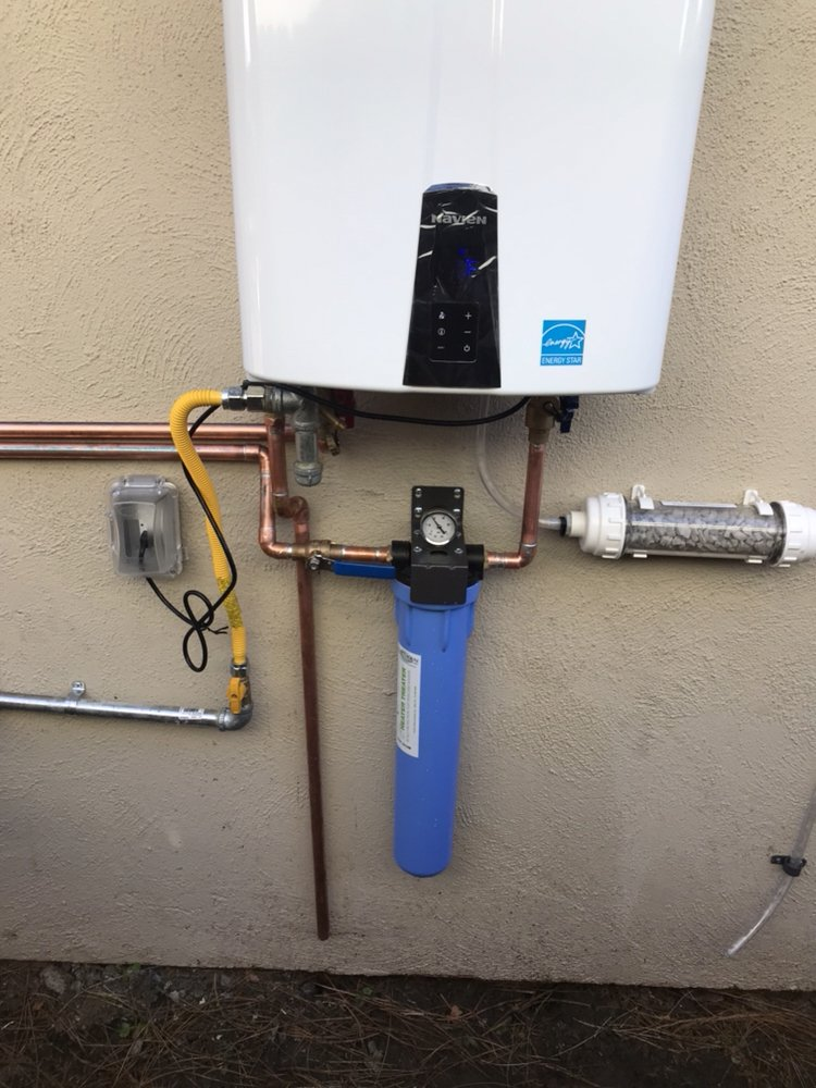 tankless water heater installation in placentia complete with an