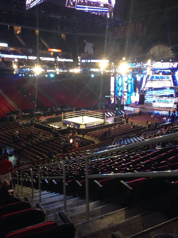 Section 111 Row 24 Seat 2 View For A Wwe Event Good Only. View Seating  Charts Houston Rockets At Toyota Center ...