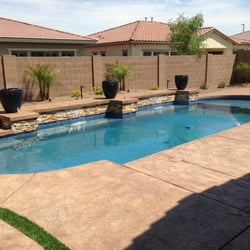 Photo Of American Backyards   Gilbert, AZ, United States. Raised Bond Beam  With