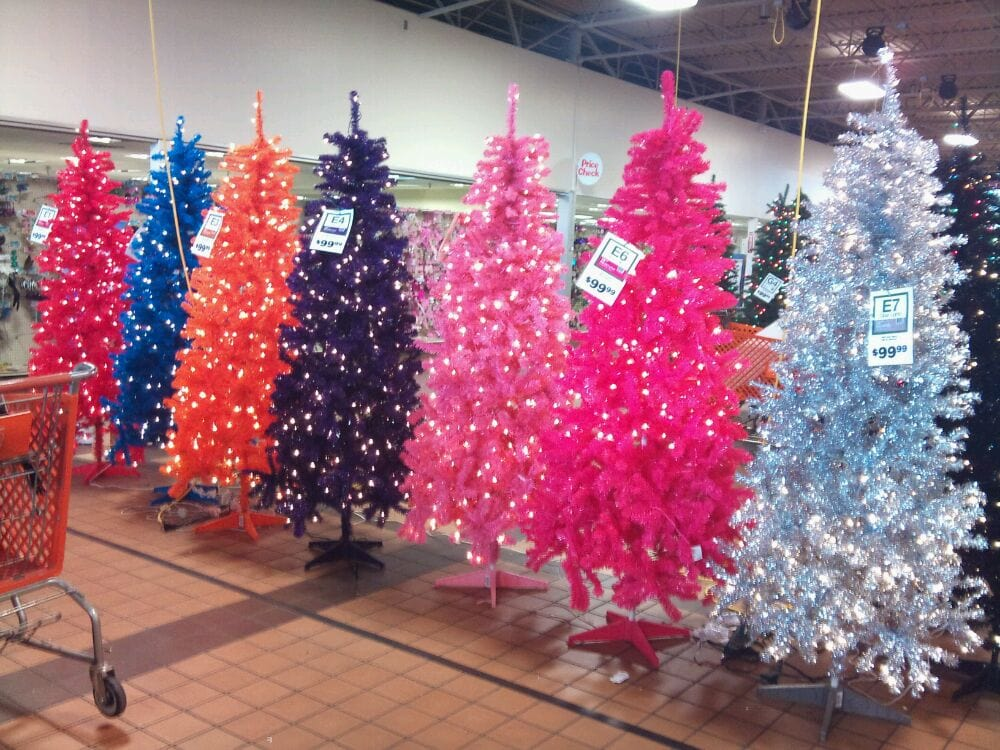 Garden Ridge Has Every Color Of Christmas Tree You Can
