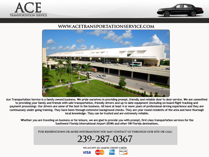 Ace Transportation Service - Airport Shuttles - Fort Myers