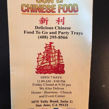 Sun Ly Chinese Food San Jose