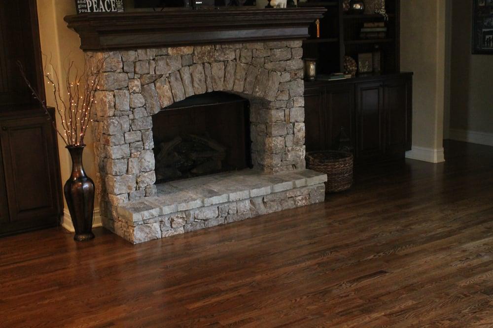 Two Toned Wood Floor Around Fireplace Yelp