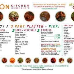 Zion Kitchen Dc Menu