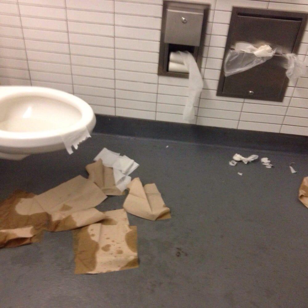 Bathroom Yelp bathroom of chipotle on austin street last night. - yelp