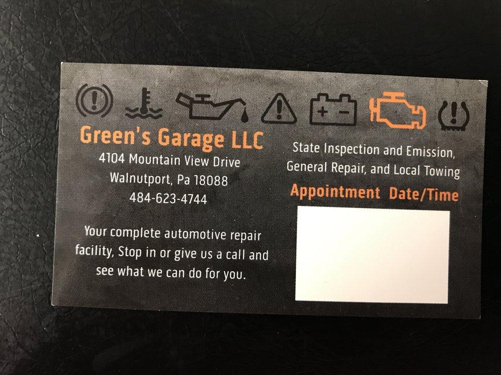 Greens Garage: 4104 Mountain View Dr, Walnutport, PA