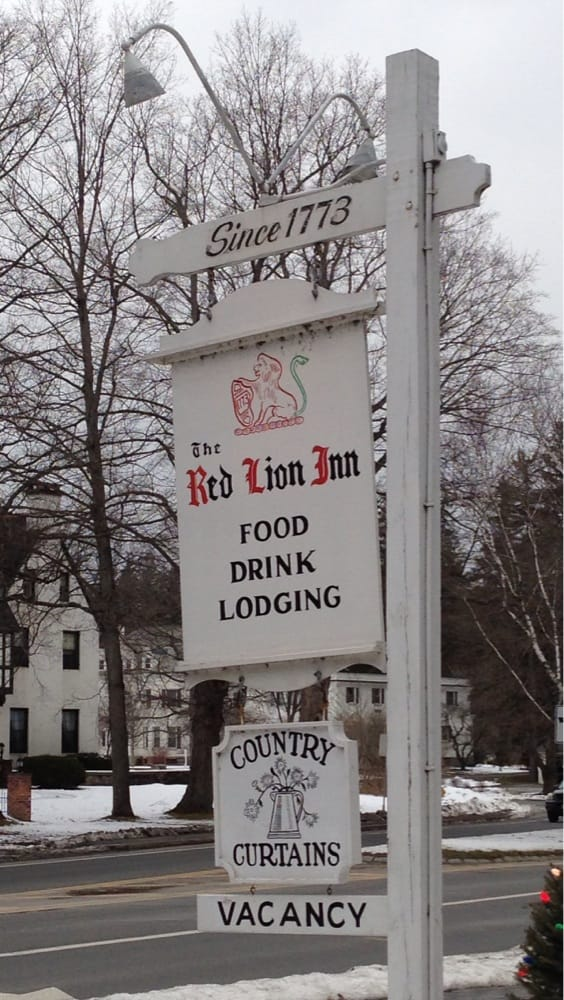 sign on route 7 at red lion inn yelp. Black Bedroom Furniture Sets. Home Design Ideas