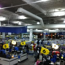 Best Buy offers a huge selection of electronics, including TVs of all kinds, stereo systems, computers, telephones and more. The store also carries large and small appliances, such as washers, dryers, refrigerators, ranges, microwaves and others.4/10(33).