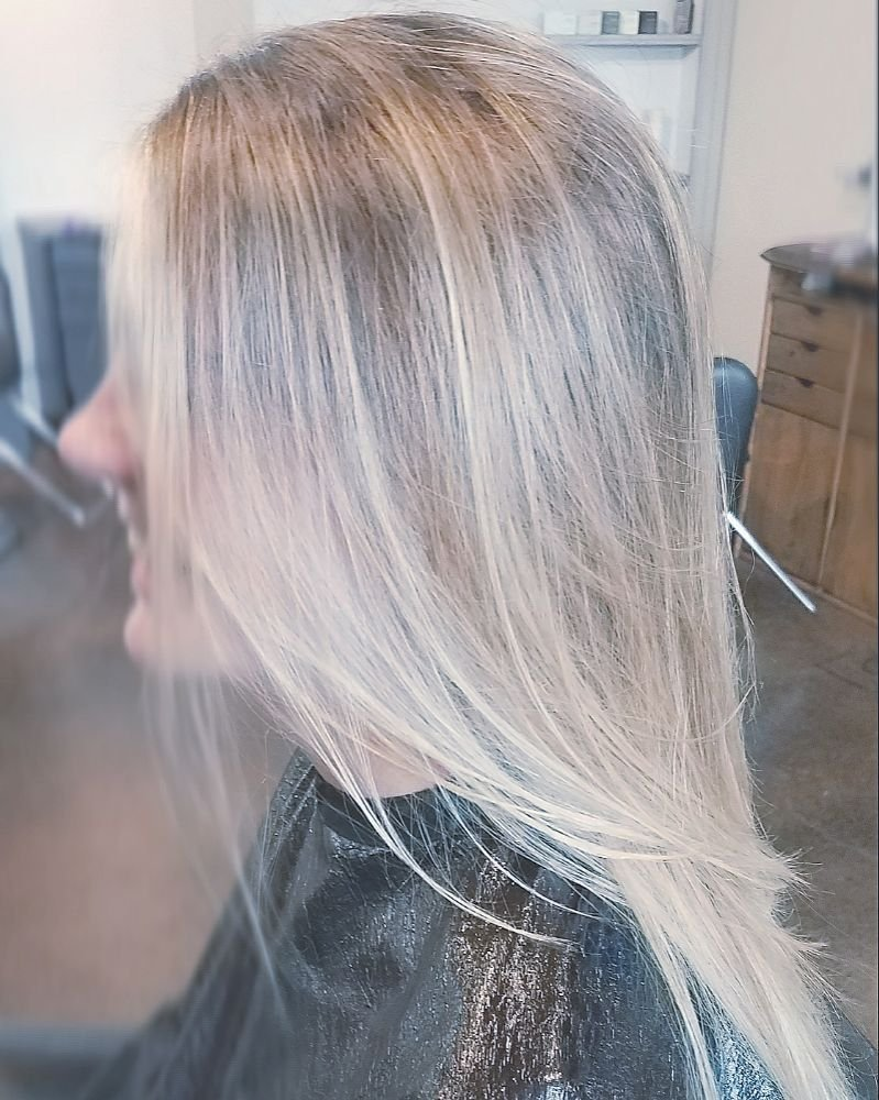 Hair Painting Haircut By Kayla Newbold At Harlow Boutique Salon Yelp