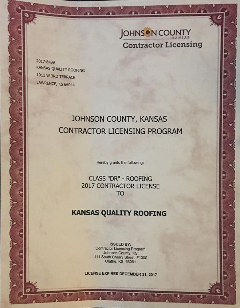 Photo Of Kansas Quality Roofing   Lawrence, KS, United States. 2017 Johnson  County