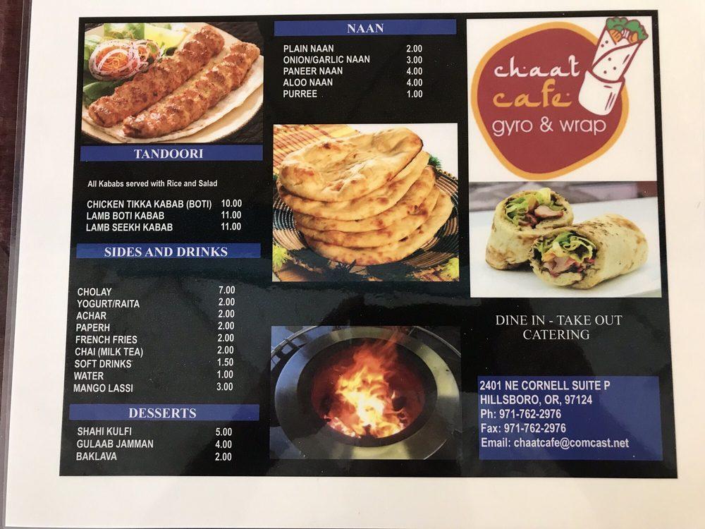 Chaat Cafe Gyro & Wrap: 2401 NE Cornell Rd, Hillsboro, OR