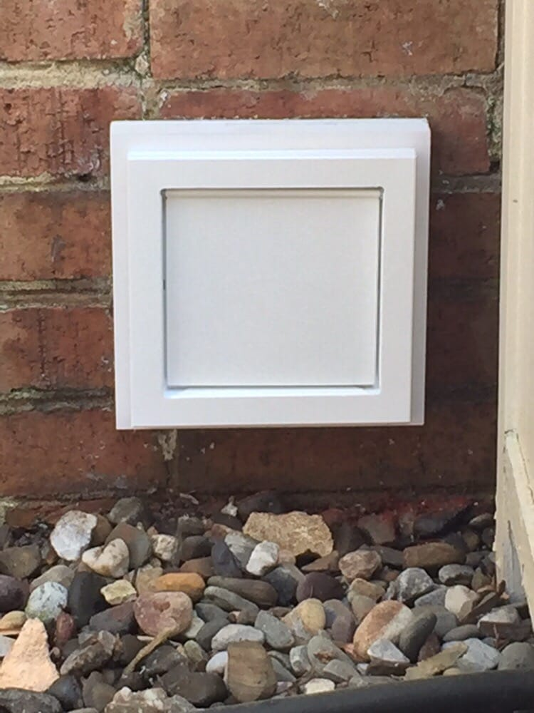 New Installation Of A Dryer Wall Vent This Vent Cover