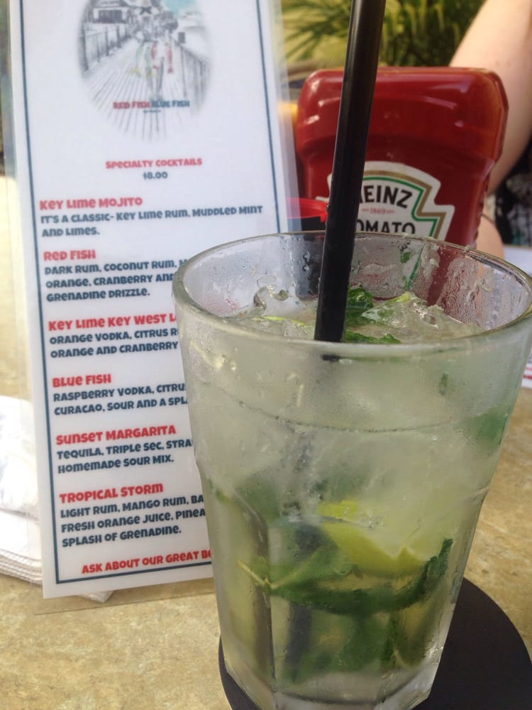 Key lime mojito didn 39 t taste extra lime y but still good for Red fish blue fish key west
