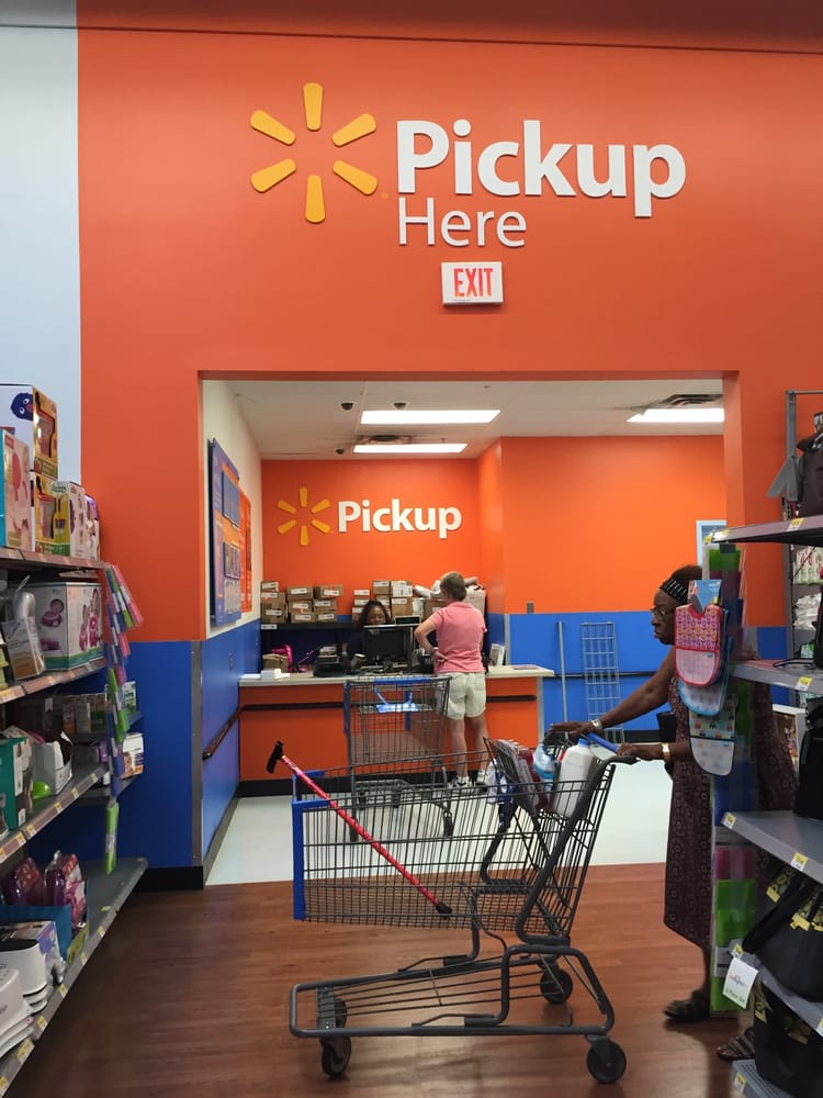 The Pick Up Area Is At The Back Of The Store Do Not Wait