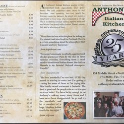 Anthony's Italian Kitchen - Order Food Online - 43 Reviews