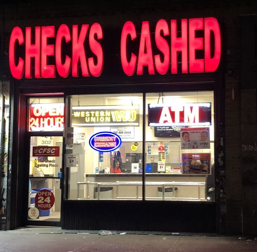 CFSC Checks Cashed