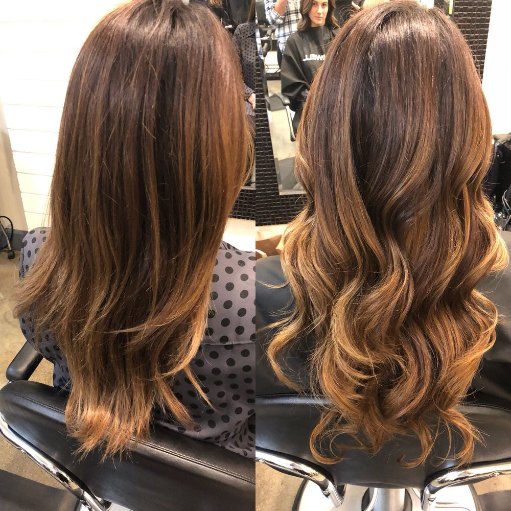 Cut Color Balayage And A Full Head Of Beaded Weft Sew In
