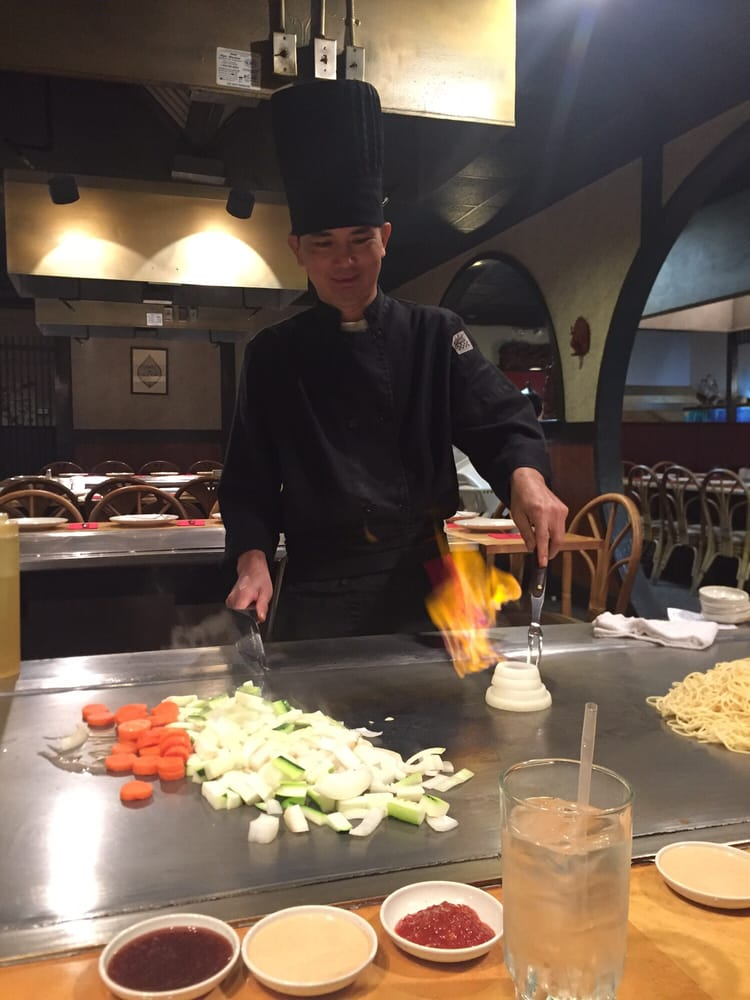 Hibachi Chef Making The Quot Onion Volcano Quot Yelp