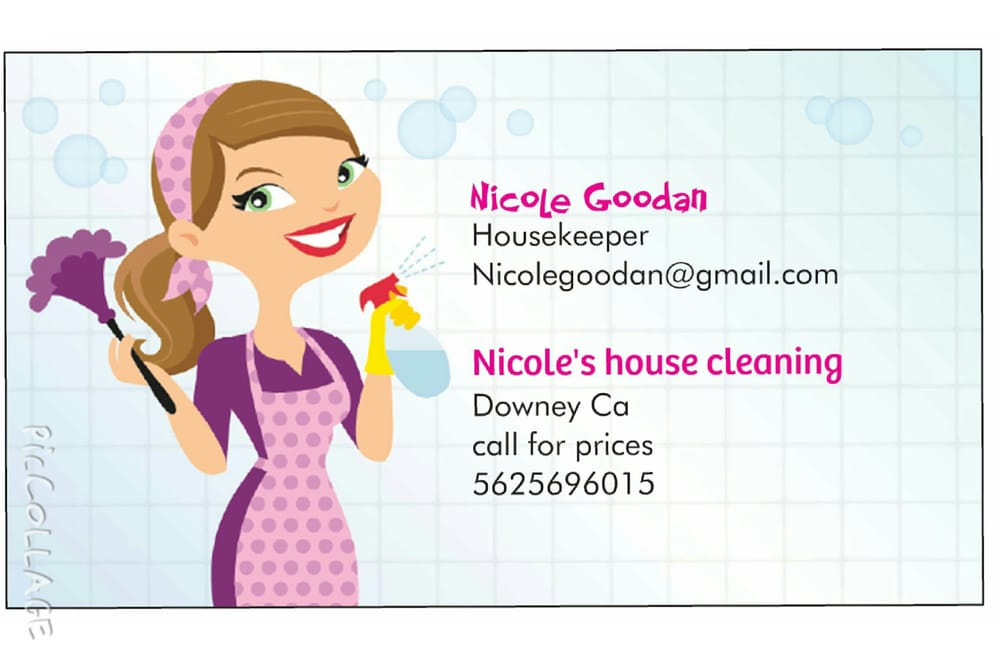 business cards house cleaning examples - Pertamini.co