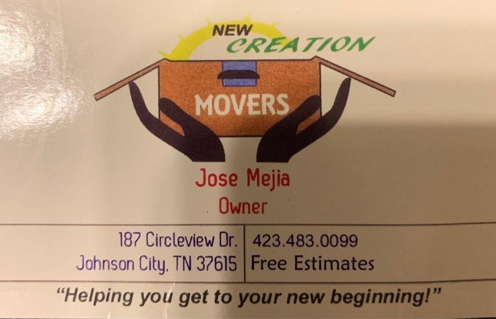 New Creation Movers: Johnson City, TN