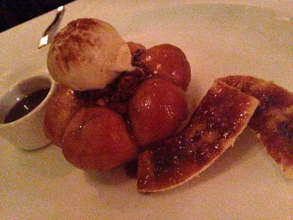 Monkey bread - maple ice cream, caramel sauce, sweet ...