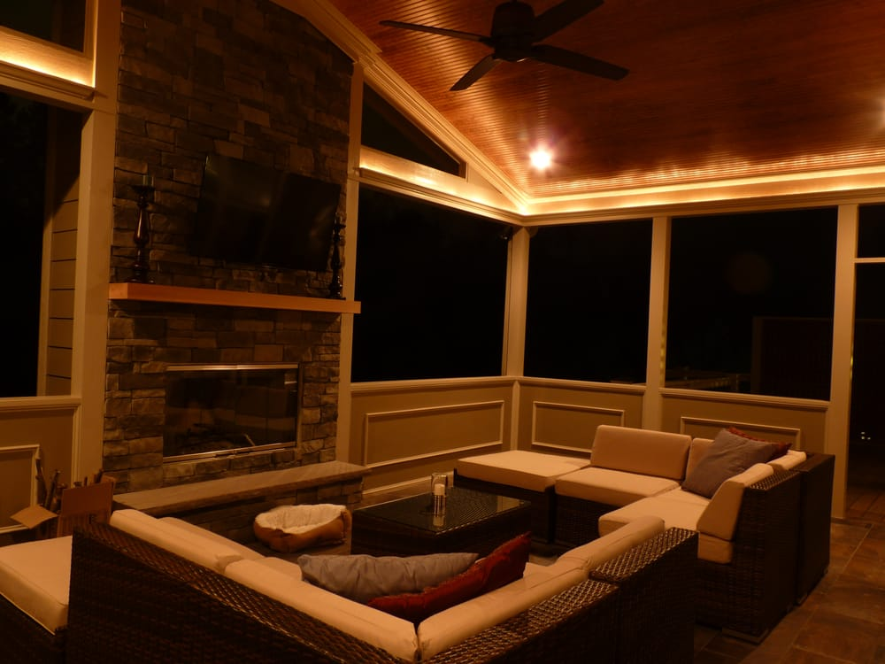 raleigh deck screen porch builder offers electrical options