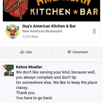Guy S American Kitchen And Bar Response