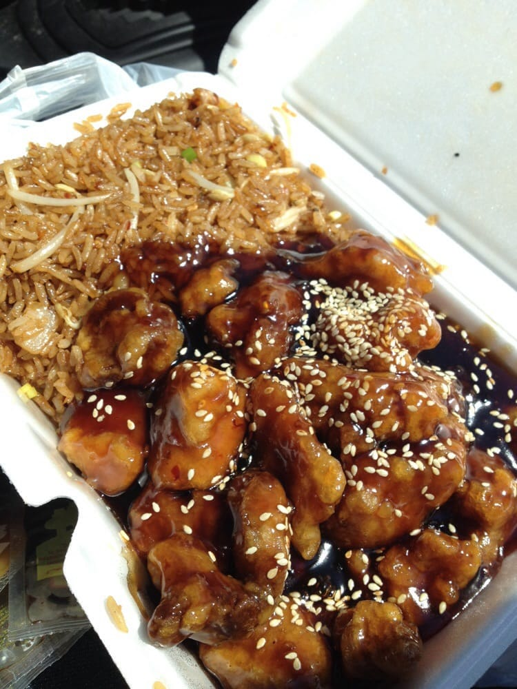 General Tso S Chicken Added Sesame Seeds And Shrimp