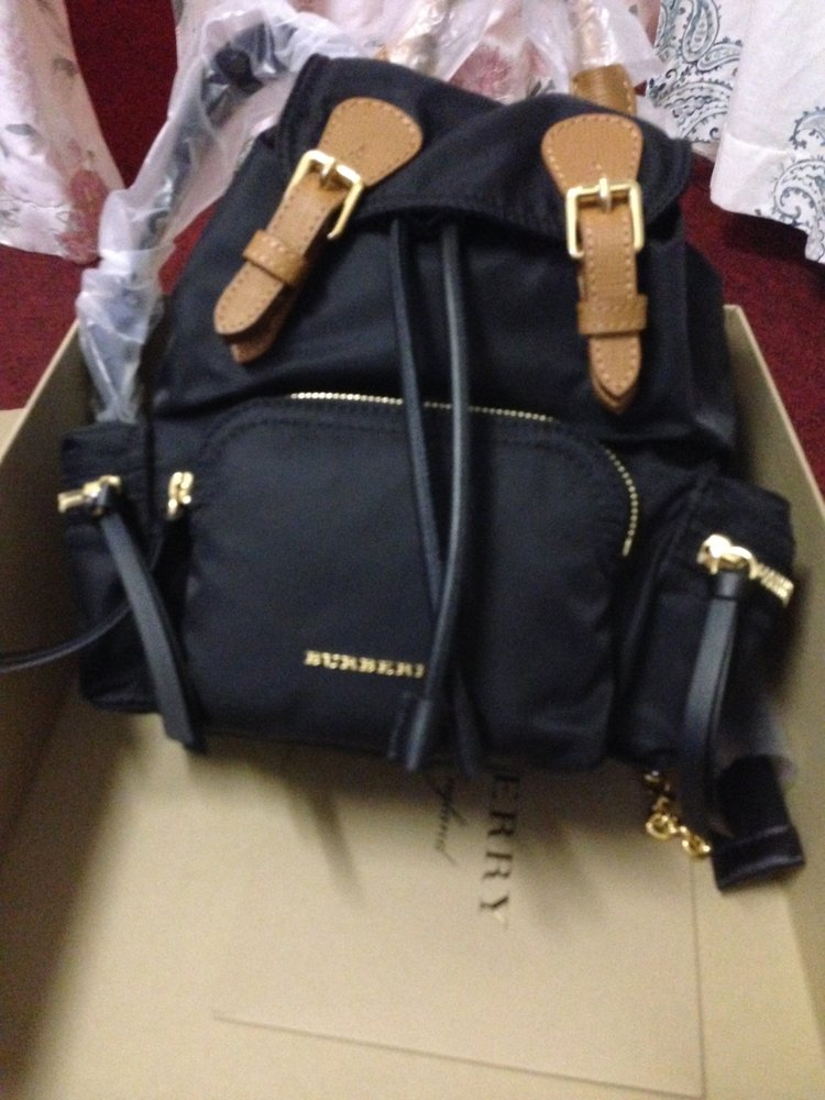 My Birthday Gift To Sister Small Black Leather Burberry Rucksack