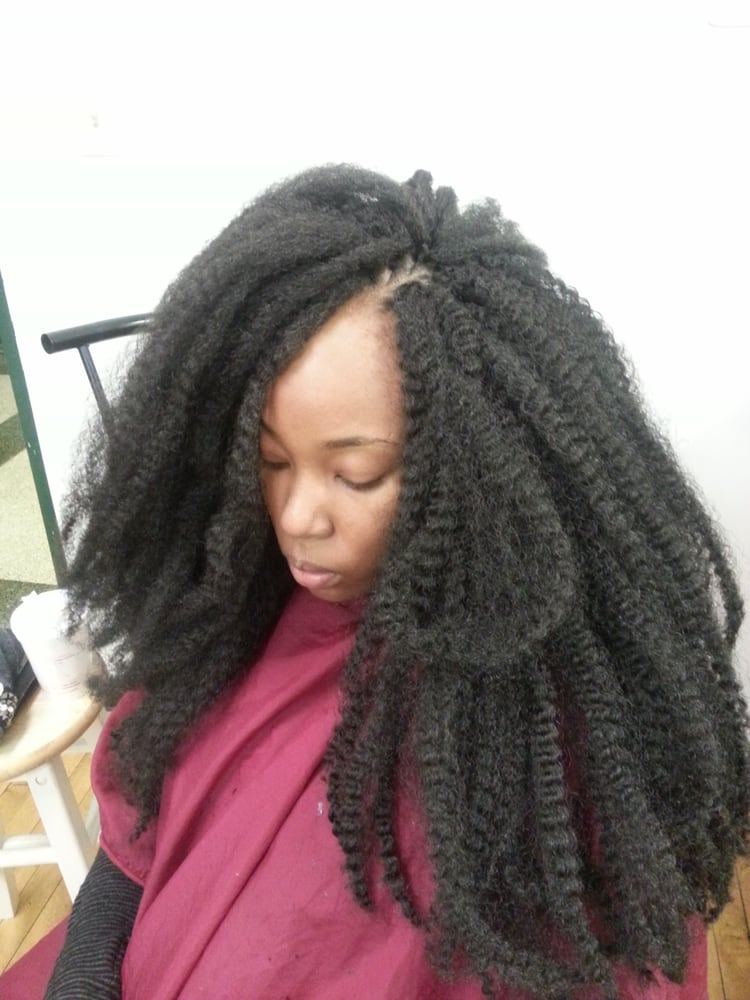 Marley Hair Crochet Braids Before Curling Yelp