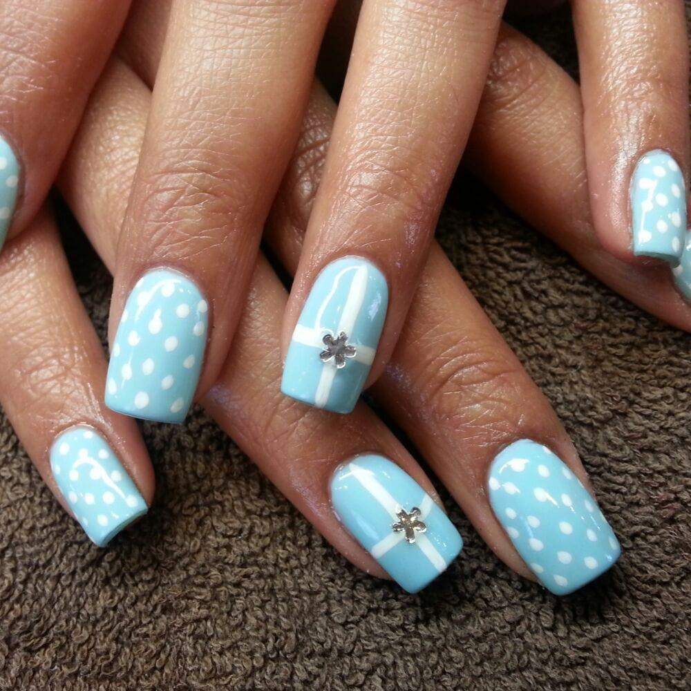 Tiffany Blue Gel Nail Polish: Tiffany Blue Gel Polish Over Acrylic.