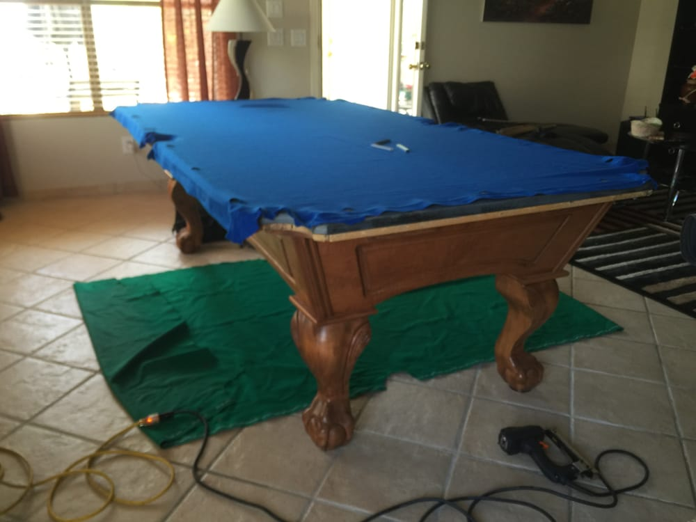 Recovering A Buckhorn Pool Table Yelp - Buckhorn pool table
