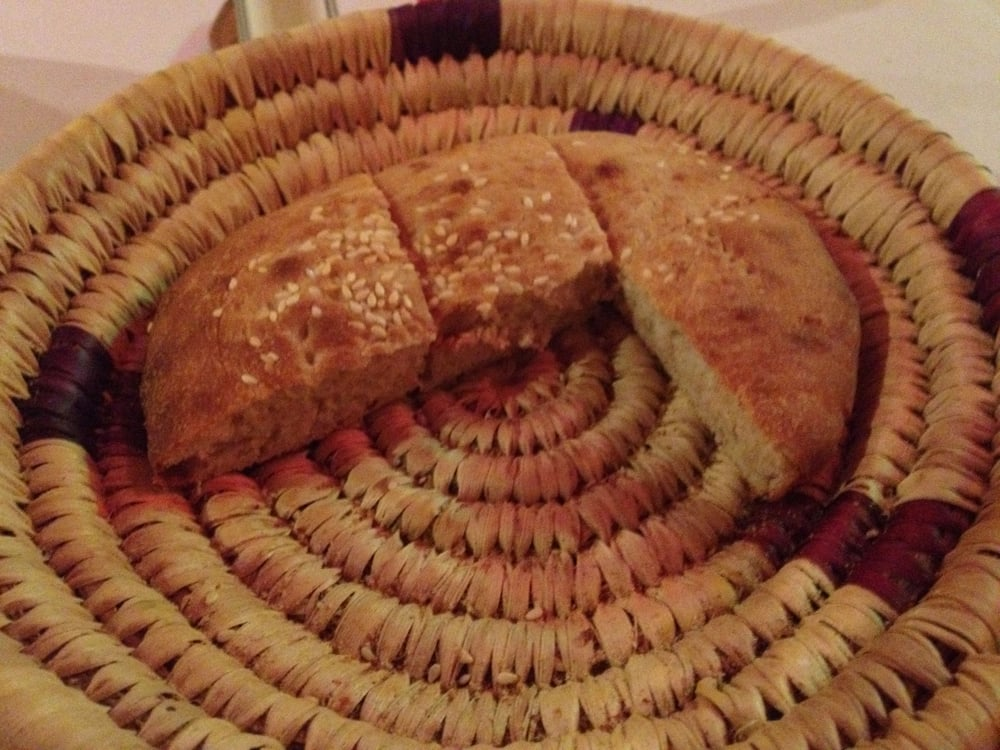 Moroccan bread there used to be two more pieces but we for Aicha moroccan cuisine san francisco