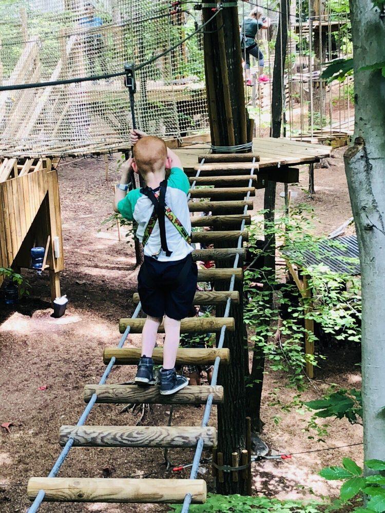 Go Ape Zip Line & Treetop Adventure - South Run Park: 7550 Reservation Dr, Springfield, VA