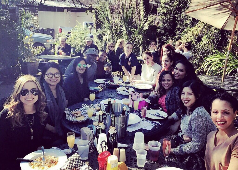 Birthday Brunch with perfect food, drinks, weather, and live