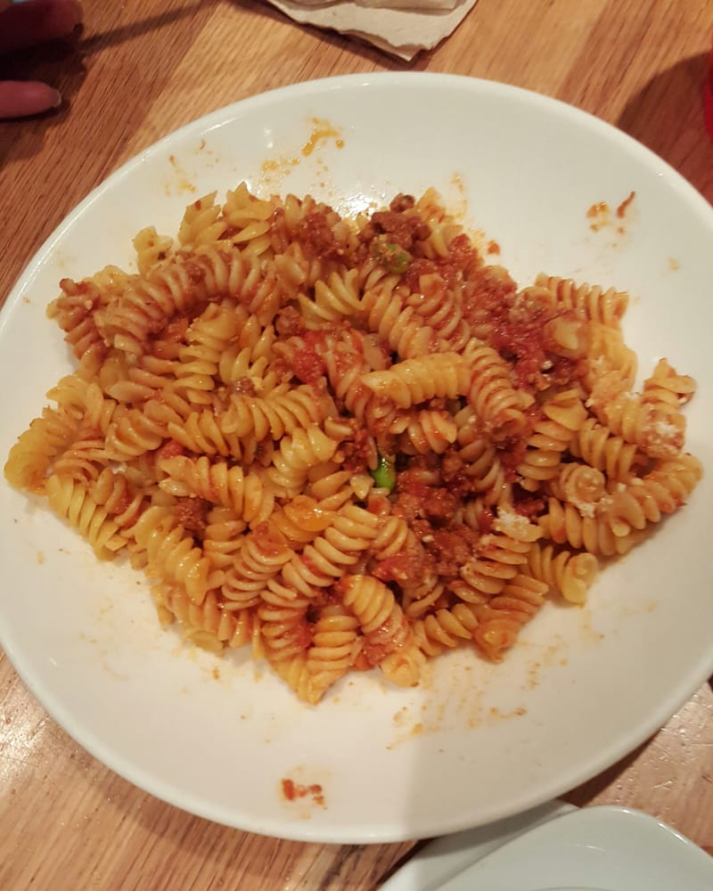 California Pizza Kitchen Pasta Cpk Kids Meal Fusilli With Meat Sauce $5.69  Yelp