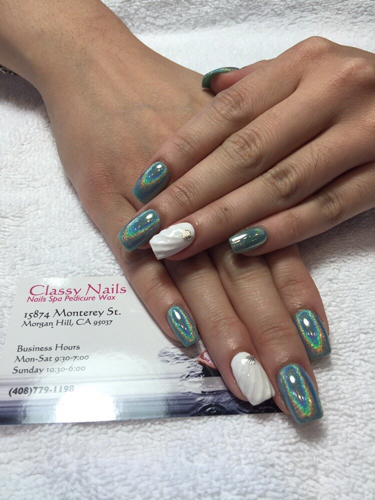 Seashells Amp Halo Nails Art Yelp