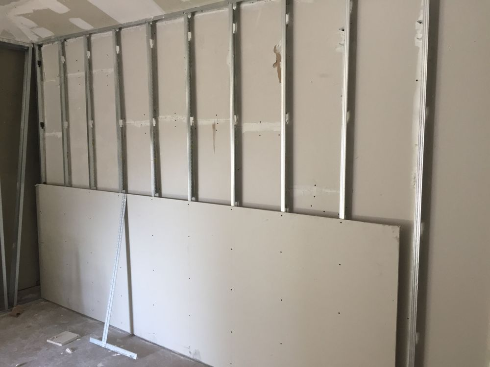 Framed and double hung drywall for soundproofing - Yelp