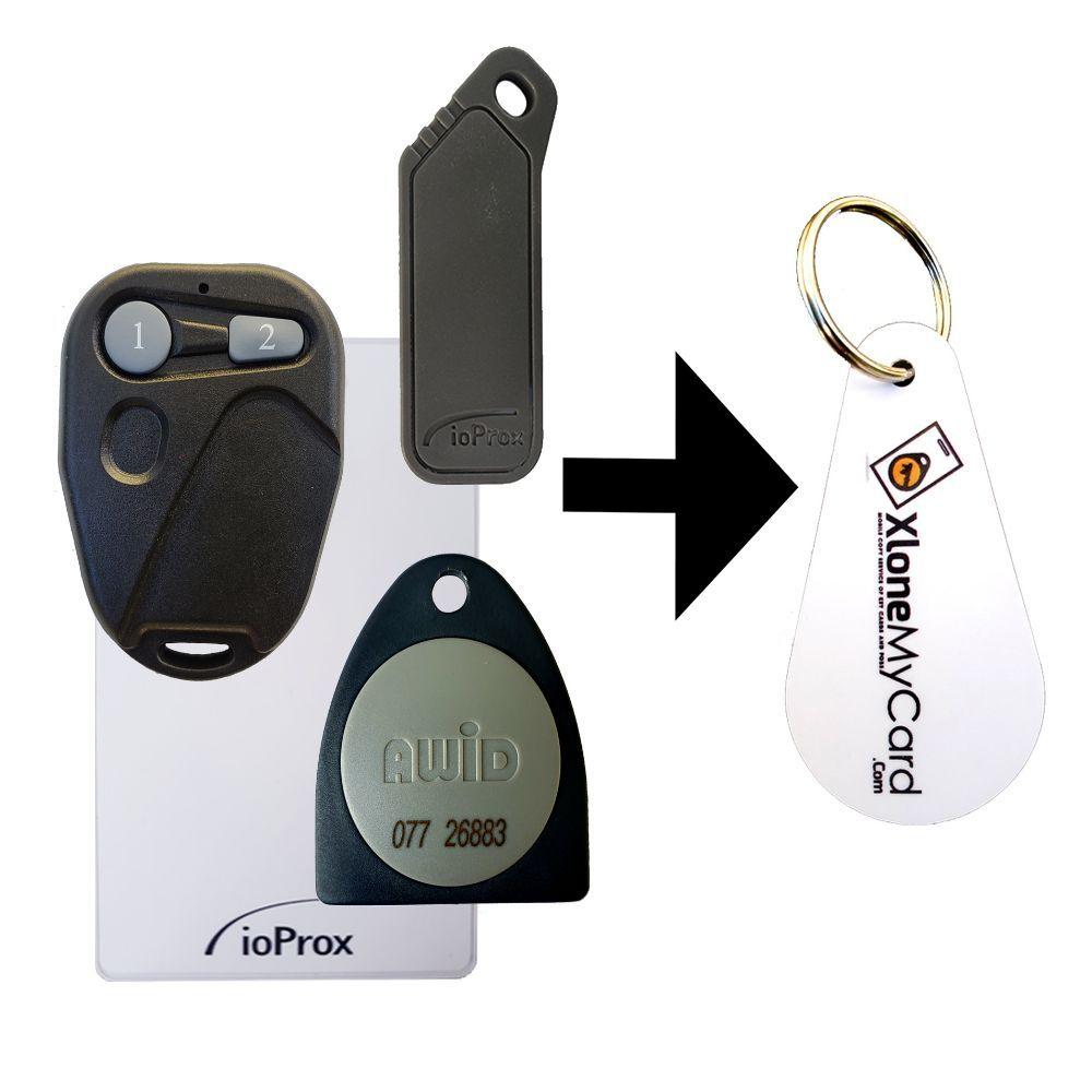 Copy / Duplicate your key card, key fob or garage remote (RFID Chip