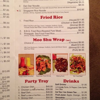 Suzie Wong Restaurant Menu