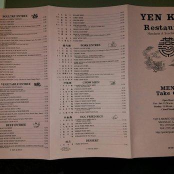 Yen King Chinese Food Vacaville Ca