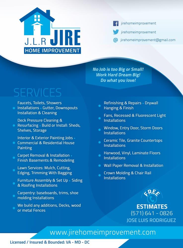 Jire Home Improvement Flyer Yelp